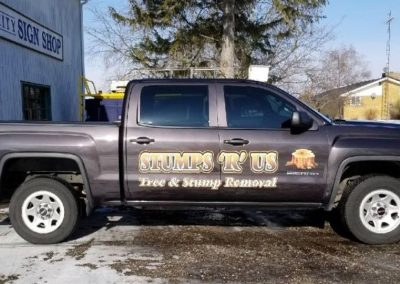 Stumps R Us Tree Service Truck